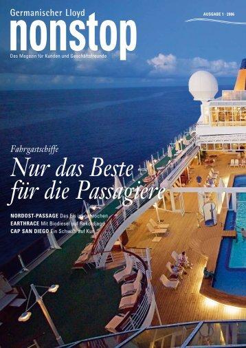 Fahrgastschiffe Nur das Beste für die Passagiere - GL Group