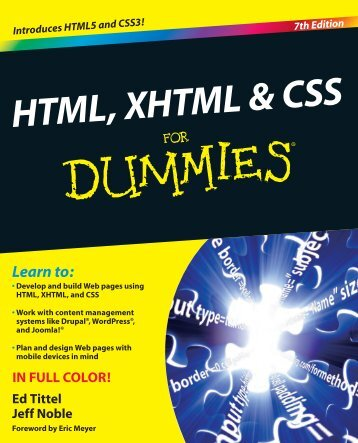 HTML, XHTML & CSS