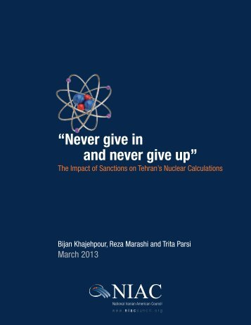 """Never give in and never give up"""