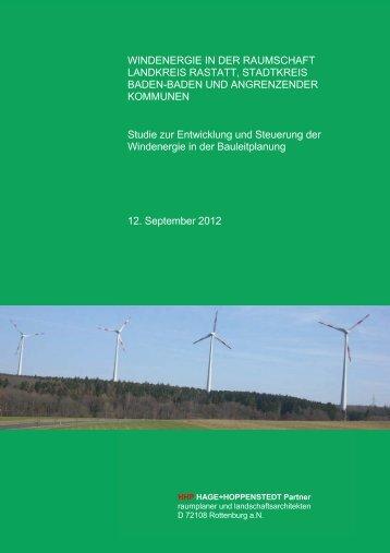 Gesamtstudie zur Entwicklung und Steuerung der ... - Stadt Gernsbach