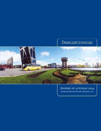 Informe de actividad 2004 - Mercedes-Benz España