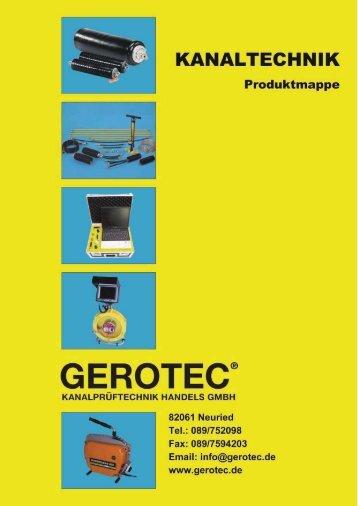 UR-Kamera - GEROTEC Kanalprüftechnik