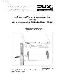Schnellbaugerüst BERA-RUX-SUPER 65 - Gerüstbau Erlmann GmbH