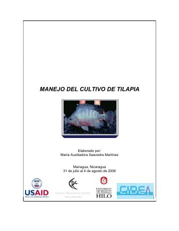 MANEJO DEL CULTIVO DE TILAPIA