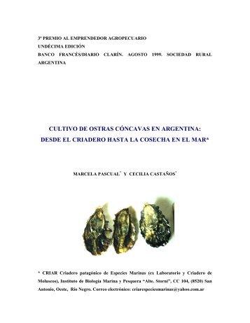 Cultivo ostra Crassostrea gigas Pascual & Castaños - Ministerio de ...