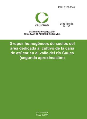 Grupos homogéneos de suelos del área dedicada al cultivo de la ...