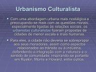Urbanismo Culturalista - Teoria e História da Cidade - Home