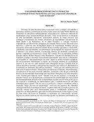 UM LONGO PROCESSO DE ENCULTURAÇÃO - Unesp