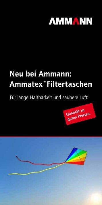 Neu bei Ammann: Ammatex ®filtertaschen