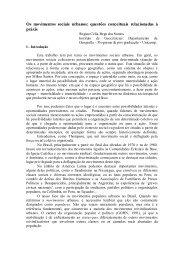 Os movimentos sociais urbanos - EGAL 2009 - Programa on-line