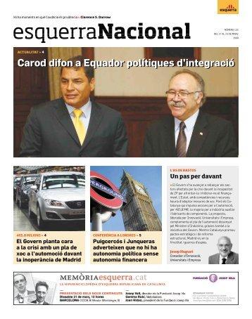 Carod difon a Equador polítiques d'integració - Esquerra ...