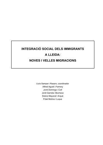 Integració social dels immigrants a Lleida: Noves i velles ... - Shaepot