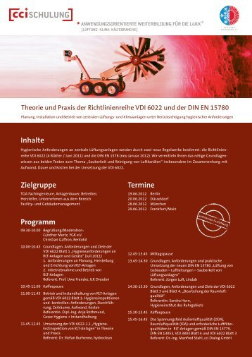 Theorie und Praxis der Richtlinienreihe VDI 6022 - FGK