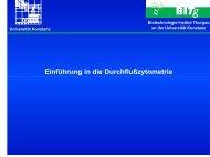 Einführung in die Durchflußzytometrie - Universität Konstanz