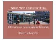 Gymnasiale Oberstufe - Hannah-Arendt-Gesamtschule Soest