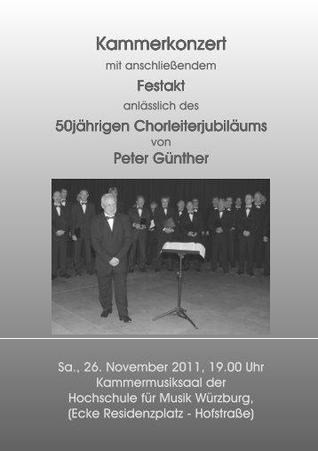 Konzertprogramm - Gesangverein 1862 Thüngersheim eV