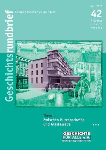 Geschichts rundbrief I - Geschichte Für Alle e.V.