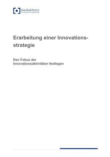 Erarbeitung einer Innovationsstrategie - Geschka & Partner