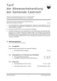 Tarif Abwasserbehandlung - Castrisch