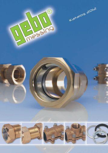 Messing-Klemmverbinder - Gebo Armaturen GmbH