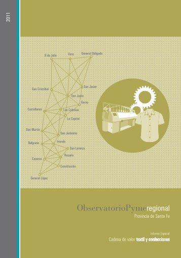 Cadena de valor textil y confecciones - Observatorios PyME ...