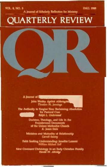 Fall 1988 - Quarterly Review