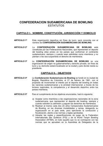 Estatutos - Confederación Sudamericana de Bowling
