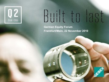 Presentation for German Equity Forum on 22 Nov ... - GESCO AG