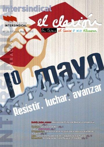 Resistir, luchar, avanzar. Manifiesto del Primero de Mayo de la ...