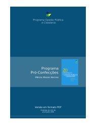 Programa Pró-Confecções - FGV-Eaesp