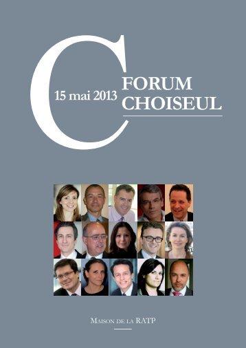 FORUM ChOiseUl 2013 - Editions Choiseul