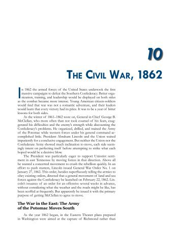 THE CIVIL WAR, 1862 - US Army Center Of Military History