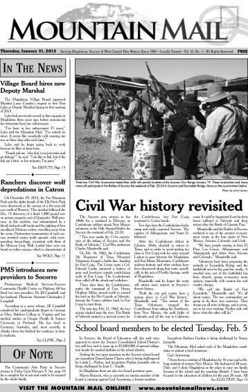 Civil War history revisited - Mountain Mail News