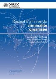Recueil d'affaires de criminalité organisée - United Nations Office on ...
