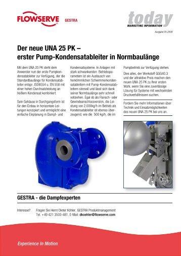 Der neue UNA 25 PK – erster Pump-Kondensatableiter in ...