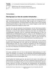 Überlegungen zur Idee der sozialen Infrastruktur - Gesundheit Berlin ...