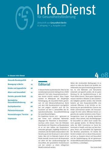Hilfebedarf und Autonomieerhalt Älterer - Gesundheit Berlin eV