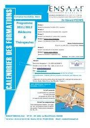 Programme 2011/2012 Médecins & Thérapeutes - ENSAAF
