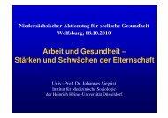 Vortrag als PDF - Landesvereinigung für Gesundheit Niedersachsen