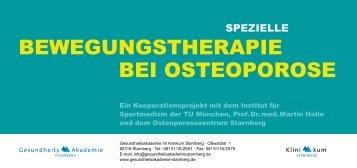 BEwEgUngSTHEraPIE BEI OSTEOPOrOSE - Gesundheitsakademie ...