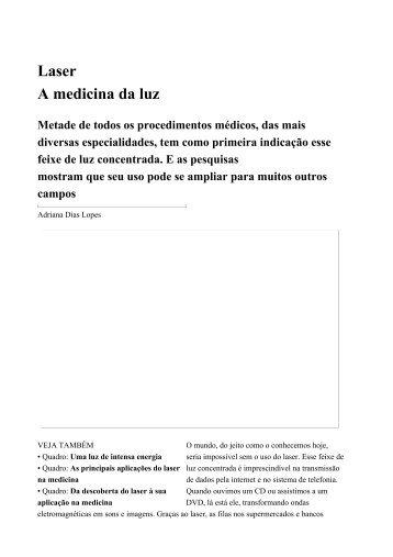 Laser- A medicina da luz-Edição 2146 / 6 de janeiro ... - AScor Assist