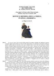 donne e riforma della chiesa in epoca moderna - Centro Studi ...