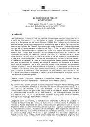 EL MONESTIR DE POBLET APUNTS D'ART Visita guiada feta pel P ...