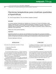 Opciones terapéuticas para cicatrices queloides e ... - edigraphic.com