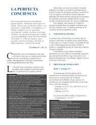 LA PERFECTA CONCIENCIA - Ministerios Ebenezer - Villa Nueva