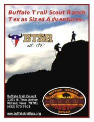 Buffalo Trail Scout Ranch Texas Sized Adventures...