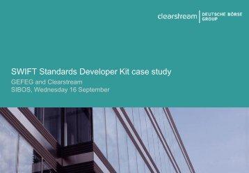 SWIFT Standards Developer Kit case study - GEFEG.FX