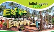 Programació cultural juliol-agost 2009