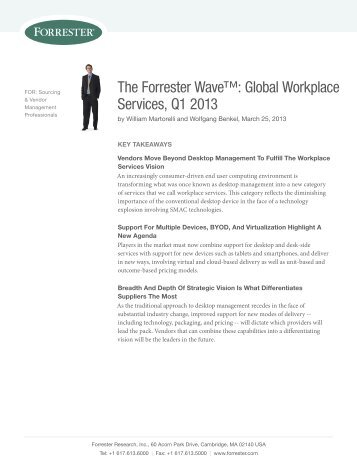 Global Workplace Services, Q1 2013 - Getronics