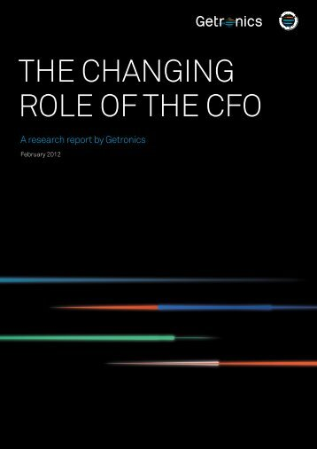 The Changing Role of The  Cfo - Getronics